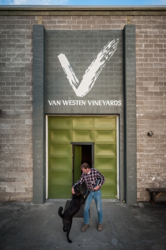 Commercial business portraits for the winemaker of Van Westen Vineyards during a promotional campaign.